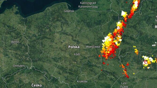 Gdzie jest burza. Śledź aktualną sytuację