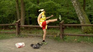 Veganowy Pan Banan. Miłośnik biegu i owoców