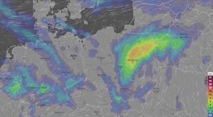 Prognoza opadów w najbliższych godzinach